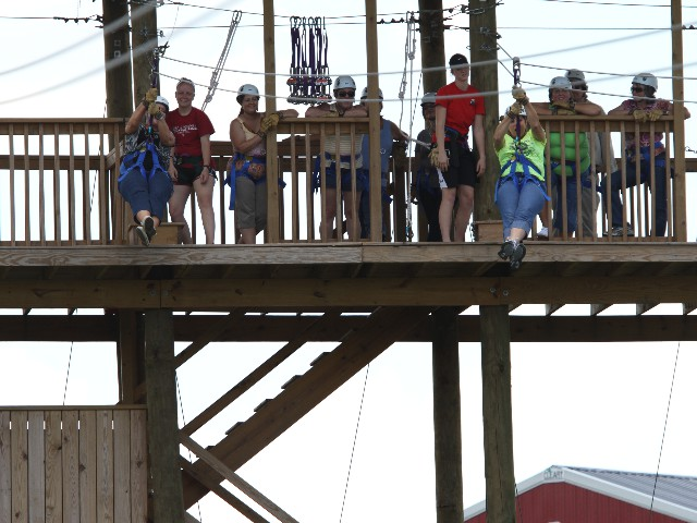 Zip Lining at the Orr Family Farm
