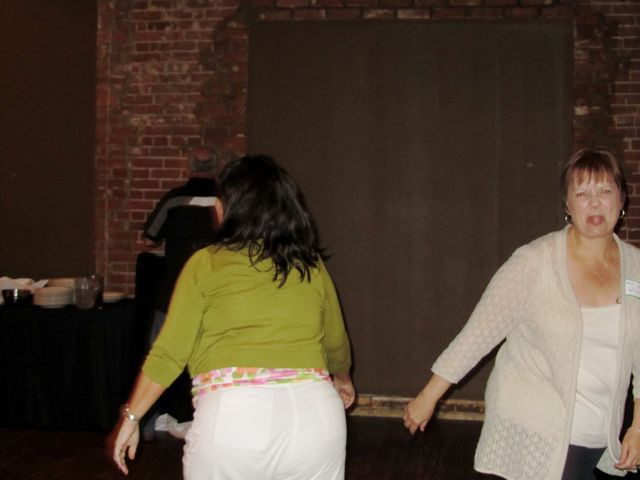 The gals dancing at the Bricktown Reunion