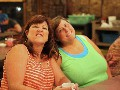 Christie Messick Shatswell and Cheryl Connelly Collins strking a pose at Dons<br/>